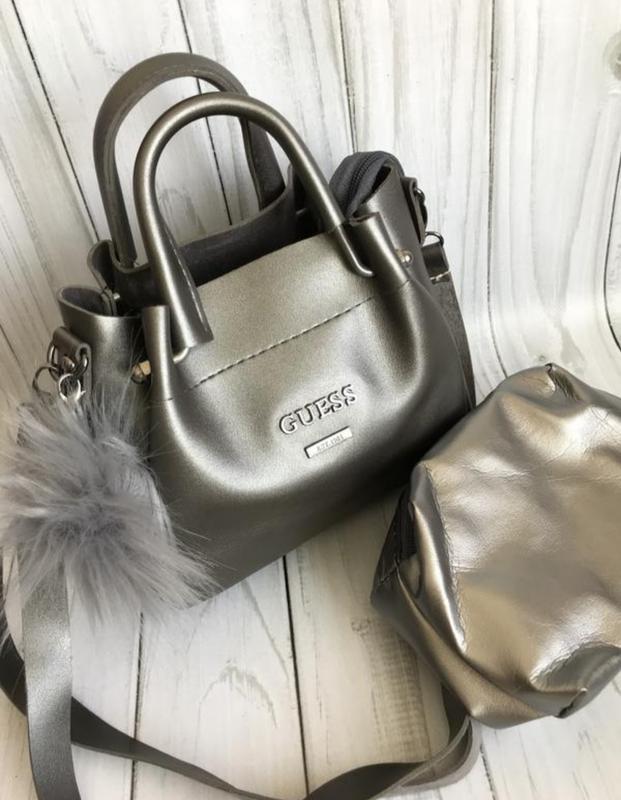 d926b89e9aee Новая женская сумка клатч серая серебро серебристая, цена - 349 грн ...