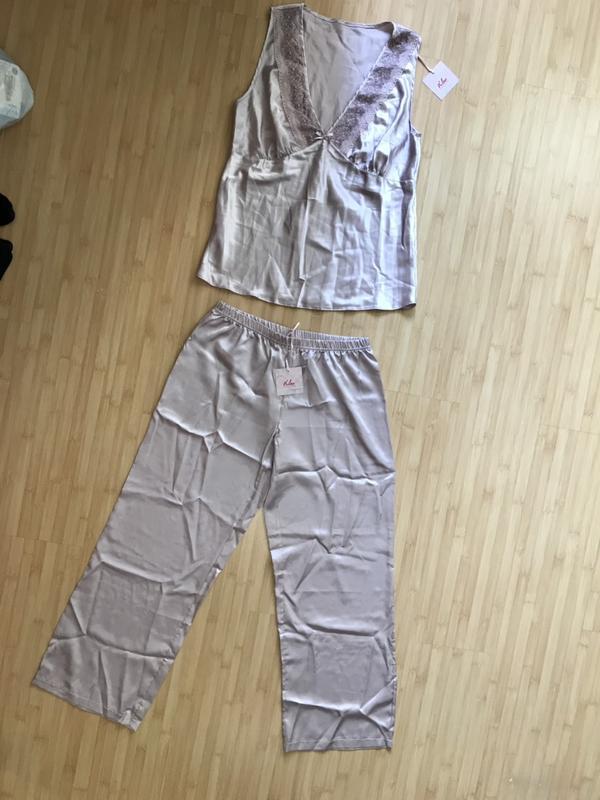 Шелковая атласная пижама kleo (Kleo) за 600 грн.  d6b5e41a489f4