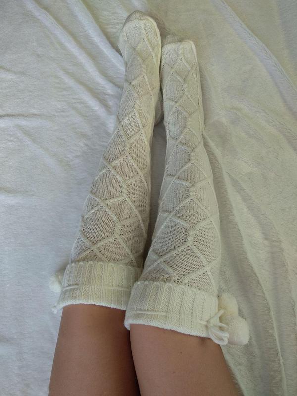 гольфы вязаные белые чулки носки гетры колготки цена 275 грн