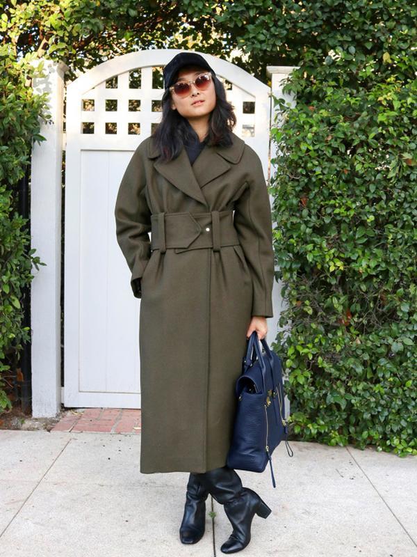 ccdc411462a 🔥итальянское премиальное шерстяное пальто в стиле милитари с широким  поясом от h m1 ...