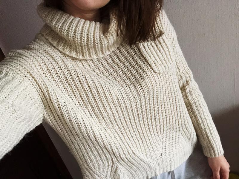 Вязаный шерстяной свитер zara1 ... 3f3d727d4b6b8