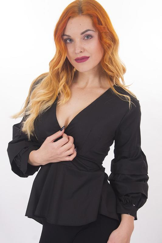 e2db294763f371a Sale рубашка женская чёрная luca santi, цена - 609 грн, #20483805 ...