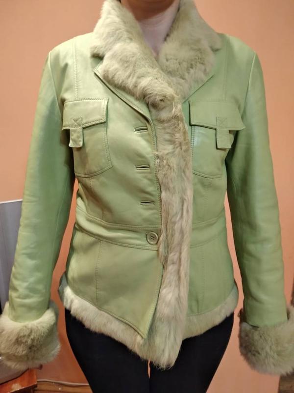 Шкіряна куртка!2 в 1!підкладка знімається11 ... 686668a968fb3