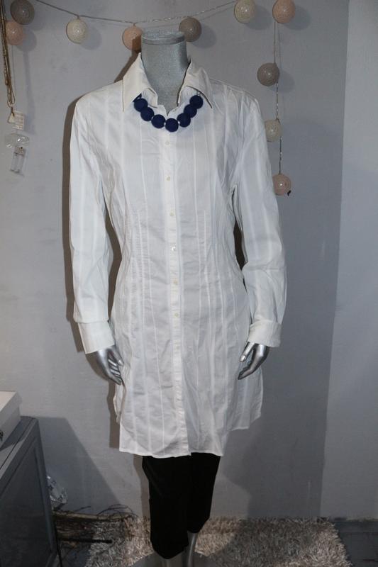 e61488e3624 Белая удлиненная рубашка marc cain Marc Cain