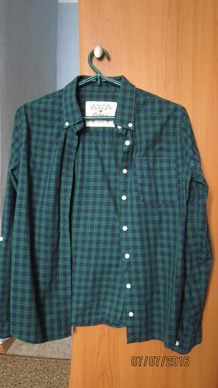 942564e406b Женская зеленая рубашка в клетку colins 100% хлопок1 фото ...