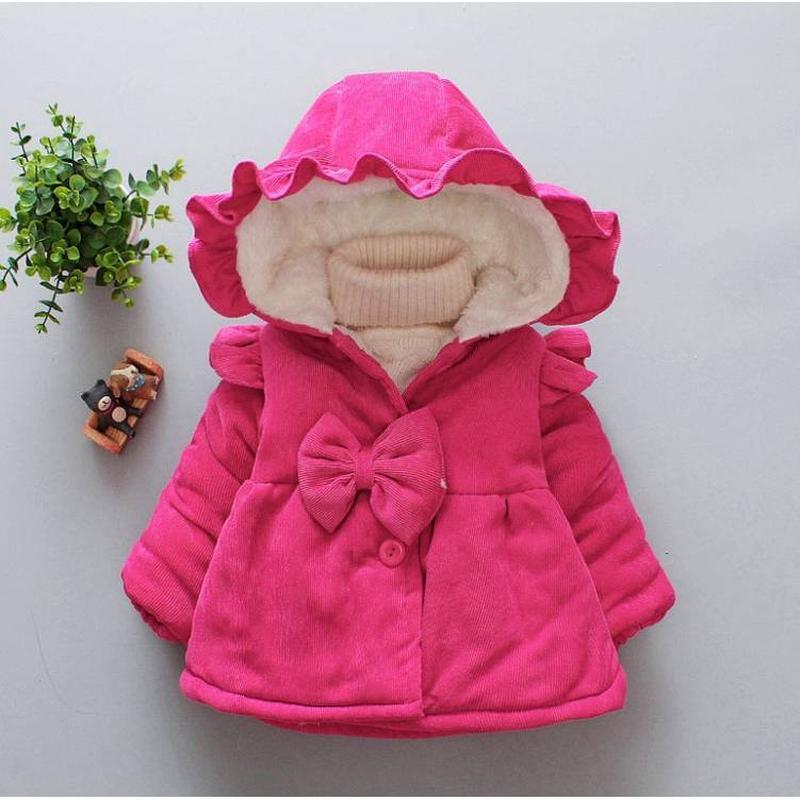 Пальто для дівчаток весна-осінь вельветове малинове1 ... 38a288243f5b4