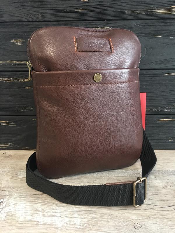 11ef35b6493a Мужская кожаная сумка-планшетка vittorio safino,через плечо, чоловіча  шкіряна сумка1 фото ...