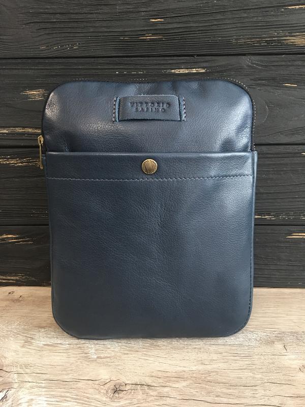 53d555780948 Мужская кожаная сумка-планшетка vittorio safino,через плечо, чоловіча  шкіряна сумка6 фото