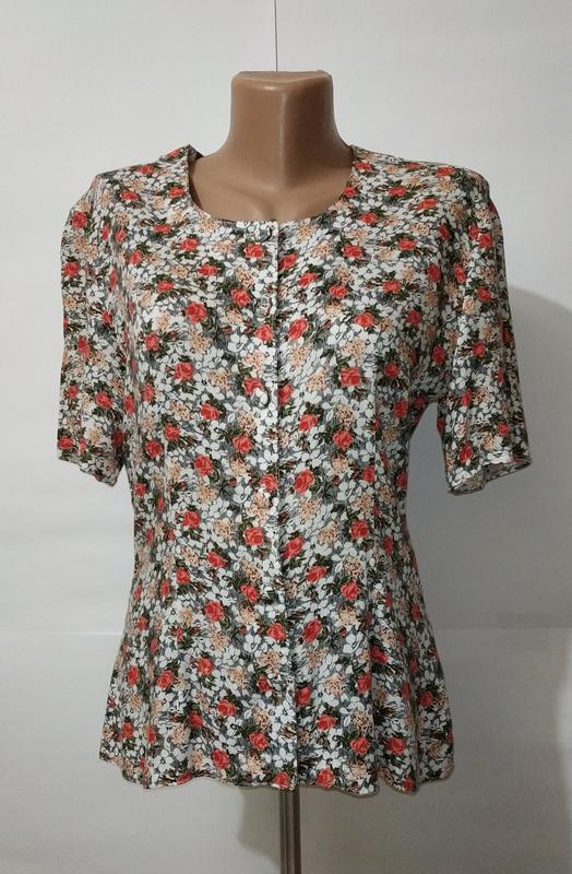 e9412d4e150 Натуральная приталенная блуза в цветочный принт dorothy perkins uk 12 40 .m1  фото ...