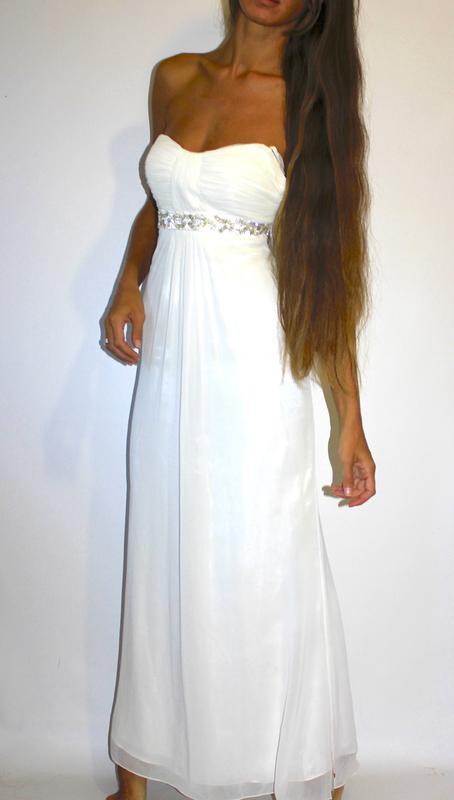3b19e617443 Шифоновое белое платье в пол - на бирке цена 5000 грн DEBENHAMS ...