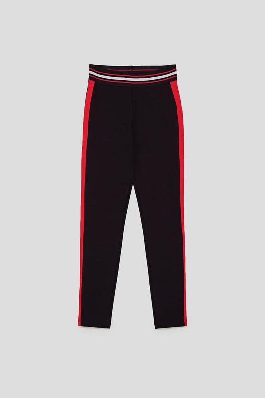 50f78f49631ed Плотные штаны, легинсы , лосины с лампасами от zara ZARA, цена - 340 ...