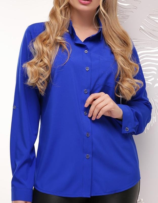 18720f9ab98 Женская батальная блуза рубашка блузка больших размеров (52