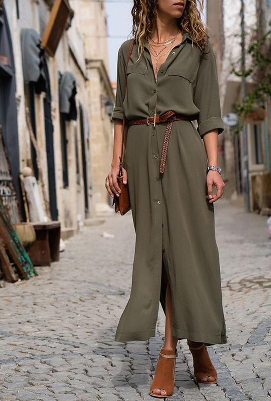 b3d3e31a84c Платье-рубашка в армейском оттенке! размер s-m1 фото ...