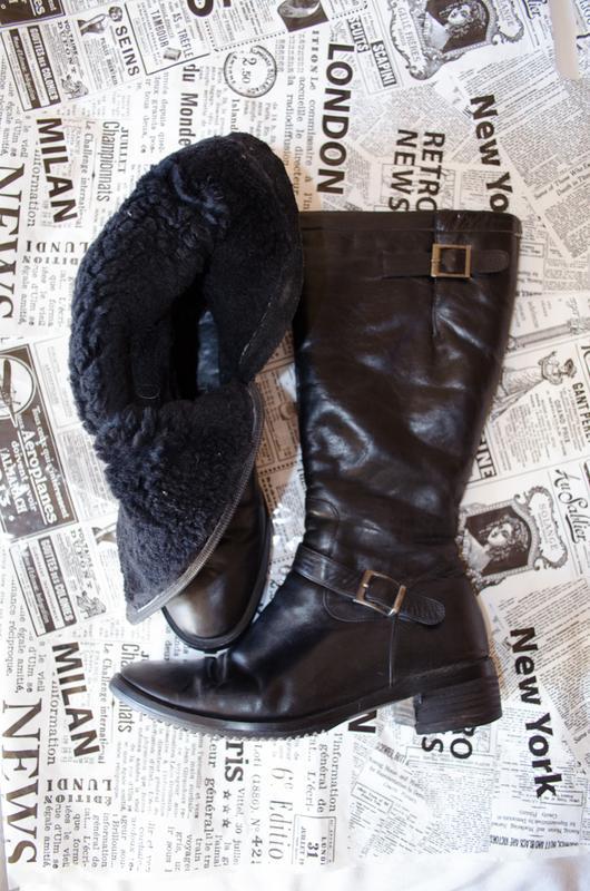 7ae8b5037 Кожаные зимние сапоги мотт низкий каблук натуральная кожа Motivi ...