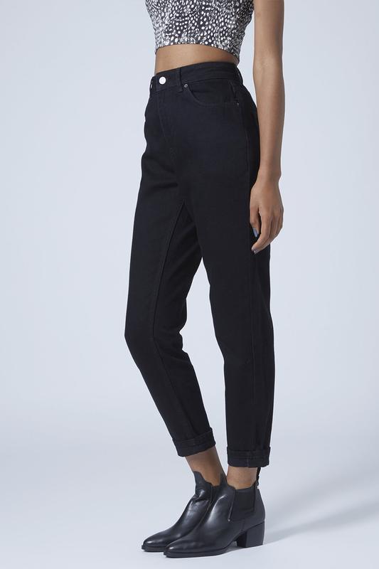 a68e881078b Джинсы черные mom jeans высокая завышенная талия1 фото ...