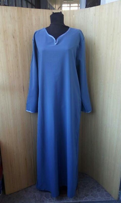 aac55a8daf6 Платье рубаха   базовое длинное платье длинный рукав   абая l xl1 фото ...