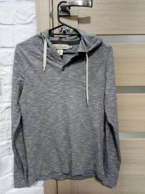 0c436863 Кофта худи джемпер серого цвета с капюшоном H&M, цена - 250 грн ...