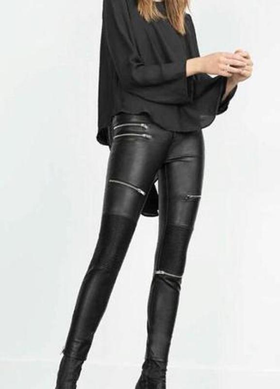 2fb13da38053 Кожаные штаны с замками премиум коллекция (ZARA) за 750 грн. | Шафа