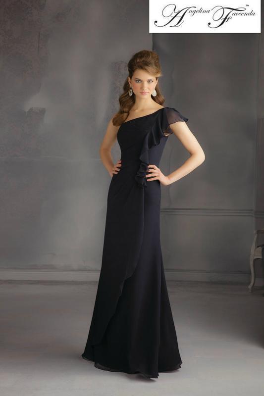 7cc80d5988d Роскошное шифоновое платье angelina faccenda от mori lee