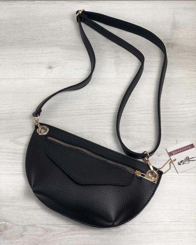 3127fe5bc Черная поясная сумка-клатч через плечо или на пояс бананка1 фото ...