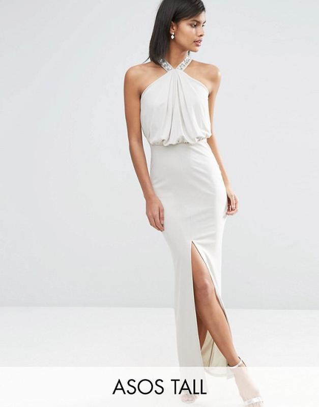 a5a8613f1ea Изящное вечернее платье в пол с драпировкой asos a11741 фото ...