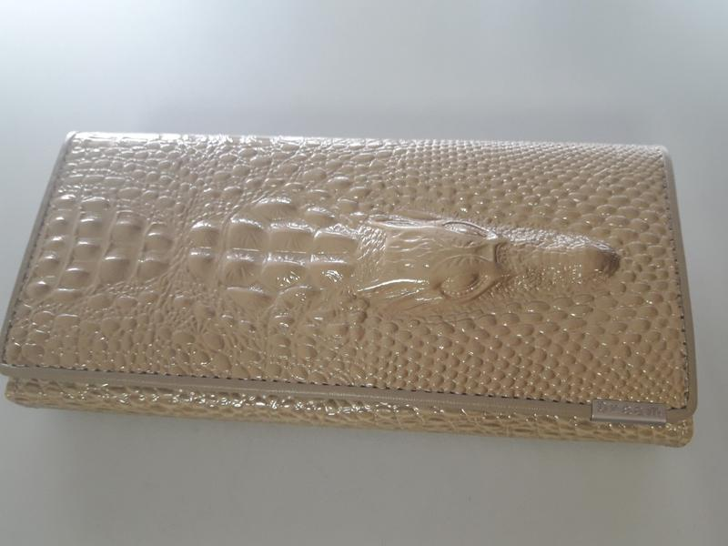 a073d9c6eca6 Кожаный женский кошелёк натуральная кожа крокодил + подарок сыворотка для  волос1 ...