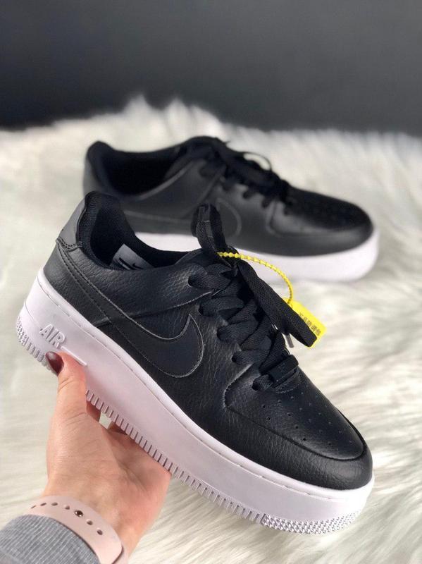 9aaf6907 Женские черные кроссовки nike air force 1 sage platform Nike, цена ...