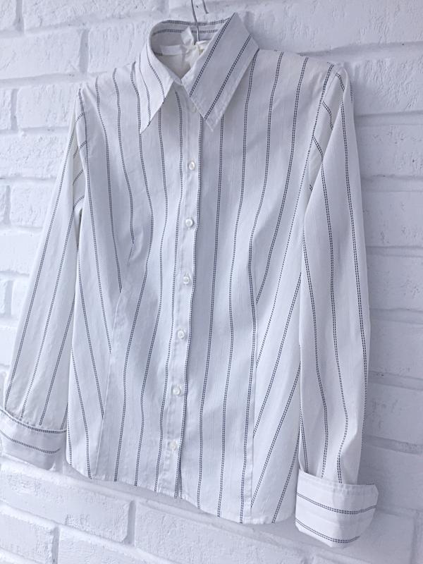 8c90a3a2aeb0af4 Женская базовая рубашка белая в черную полоску, бренд h&m H&M, цена ...