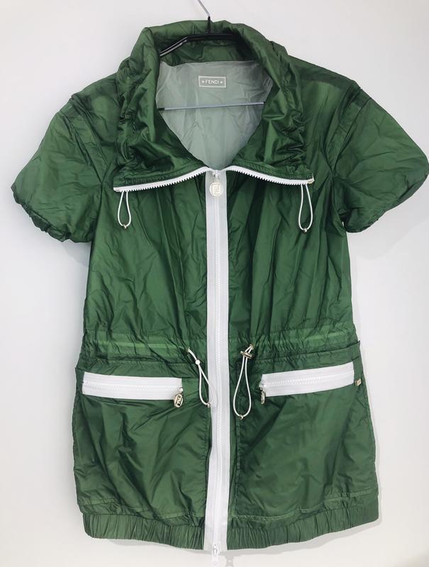 2f64ab9f Куртка-ветровка женская fendi оригинал зелёная Fendi, цена - 4500 ...