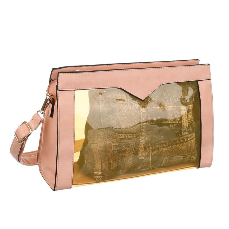 ab3c31f7dfca Прозрачная женская сумка комбинированная с экокожей jerry firenze (италия)1  ...