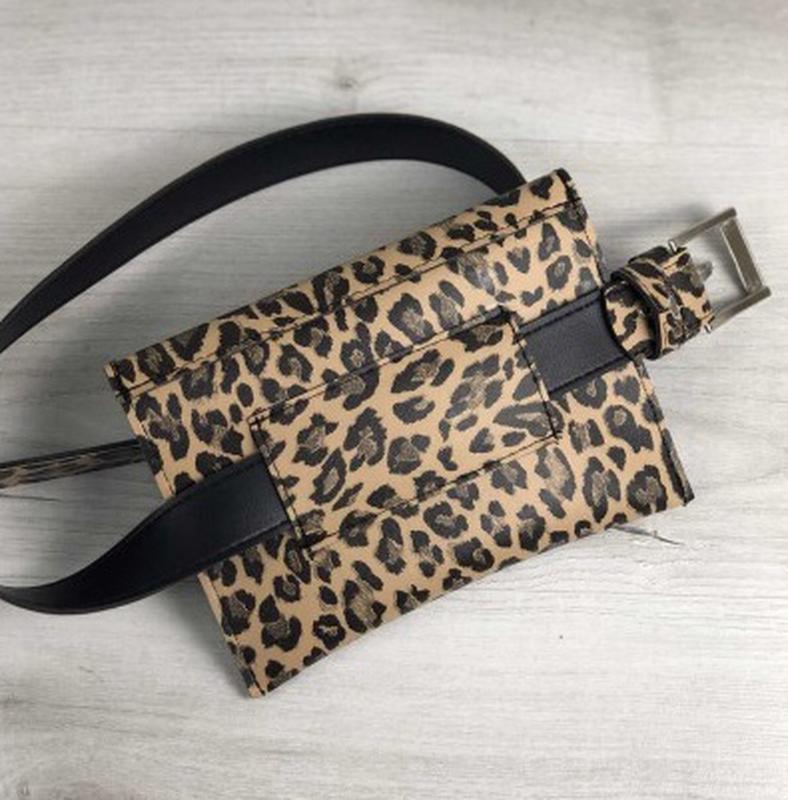 c2d6af841f8a ... Леопардовая женская сумка -клатч на пояс..маленькая молодёжная сумка на  пояс2 фото