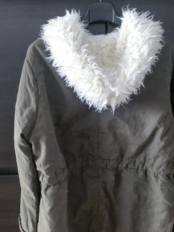 d4999bad846 ... Демисезонная весна осень парка zara куртка женская хаки с-м3 фото ...