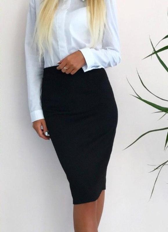 42cd48c625e Стильная юбка карандаш миди из качественного трикотажа