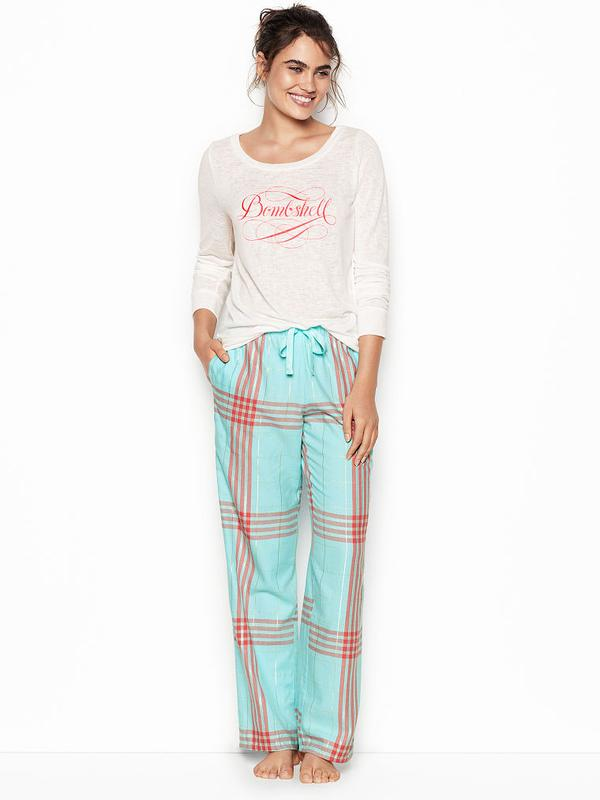 4a476588ede8 Victoria secret фланелевая пижама для сна victorias secret виктория сикрет1  ...