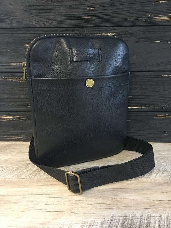3522b802bf06 Мужская кожаная сумка планшетка vittorio safino черная,сумка через плечо,  чоловіча сумка1 фото ...