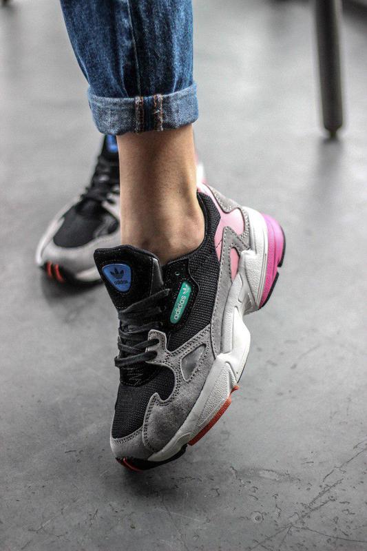 e105d6dd Шикарные женские кроссовки adidas falcon black/pink/ grey 😍 (весна/ лето/  ...