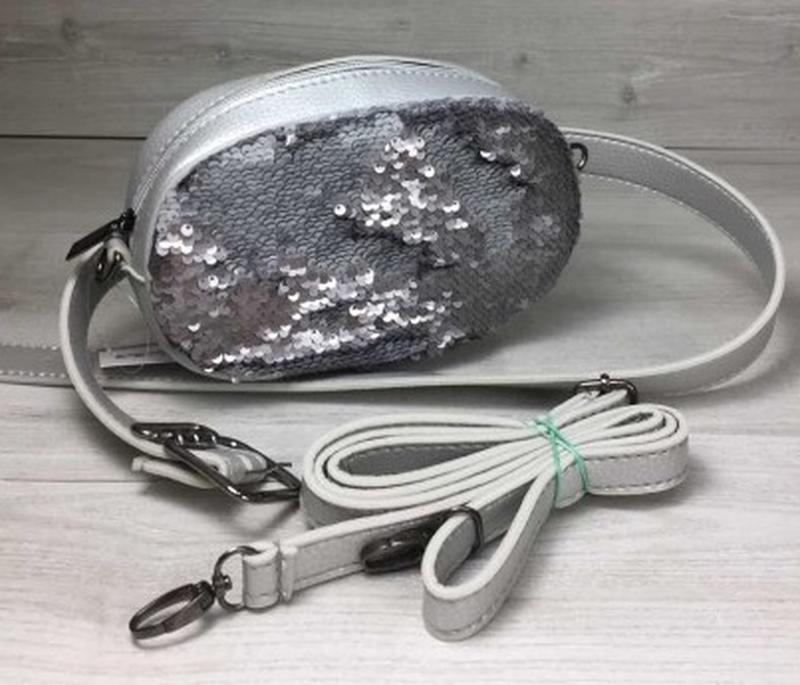 99914b2a9 2в1серебристая женская молодёжная сумка клатч на пояс с пайетками.поясные  сумки1 ...
