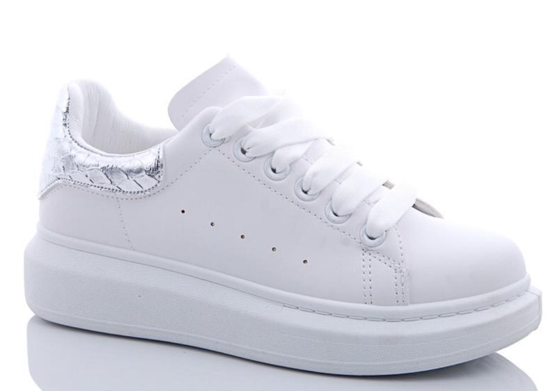 99798fa5 Женские белые кроссовки кеды с пяткой под питона, цена - 399 грн ...