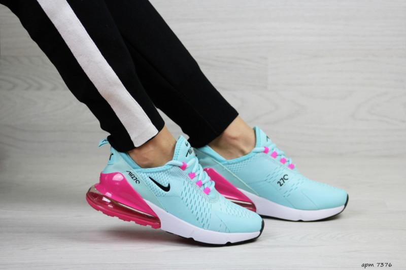 168508ca Женские кроссовки мятные с малиновым nike air max 270 Nike, цена ...