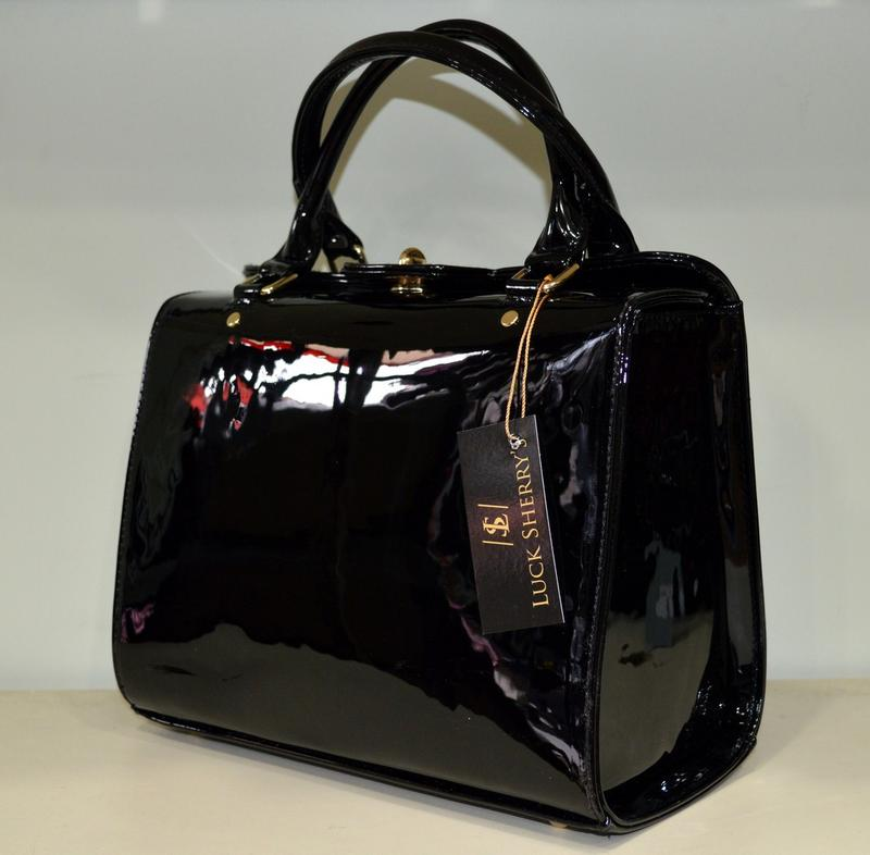 75a98dd5e278 Сумка женская лаковая черная luck sherrys. новинка по супер цене1 фото ...