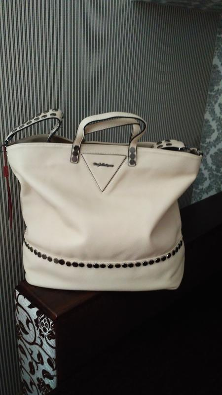 8b2c91c7d73a Farfalla rosso фирменная большая вместительная сумка шоппер с заклепками1  фото ...