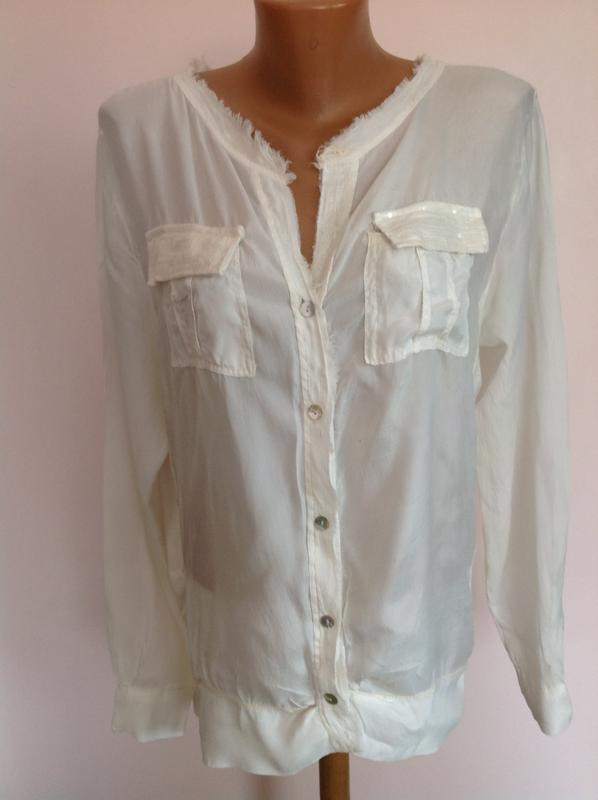 0ed725fd0be Комбинированная итальянская стильная блуза- рубашка. l- xl. шёлк- вискоза1  ...