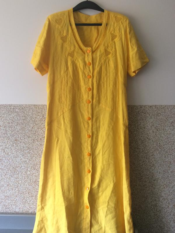 6ec1cd18e1b Винтажное льняное платье с италии пог 52 смотрите все лоты!много скидок!1  фото ...