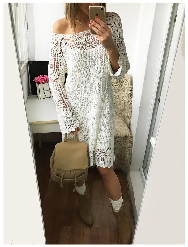 нежное вязаное кружевное платье от Hm в стиле городского Boho Chic