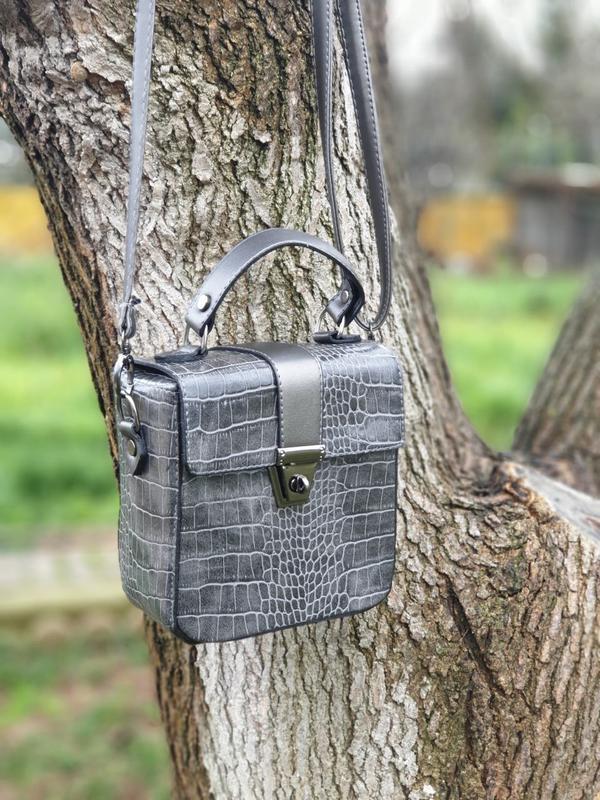 e1b6f58aa6af Новая женская сумка клатч серая питон, цена - 369 грн, #21517787 ...