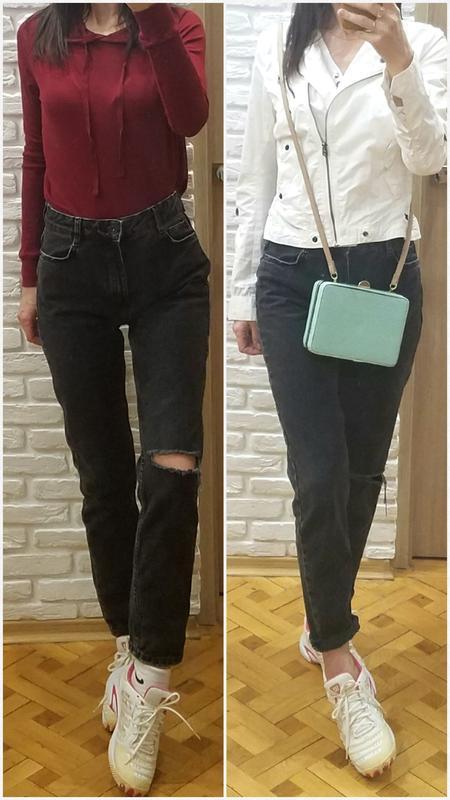 c2b53d33c10 Джинсы мом рваные с дистрессингом mom jeans bershka высокая талия1 фото ...