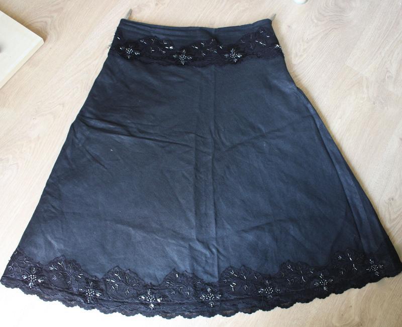 404c39ba502 Красивая юбка-солнцеклеш с кружевом и бисером Pole   Pole