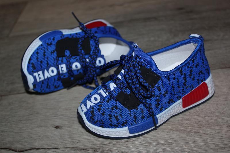 25й-28й кроссовки мокасины кеды яркие синие кроссівки, цена - 150 грн, #21651560, купить по доступной цене | Украина - Шафа