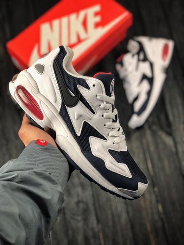 85b7d5e1 Мужские кроссовки nike air max2 light bl/wh кросовки найк обувь1 фото ...