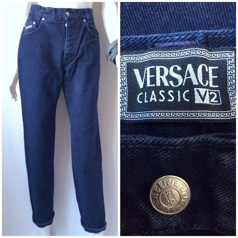 0187eb0489b Versace v2 classic mom jeans итальянские джинсы мом с высокой талией бананы1  фото ...